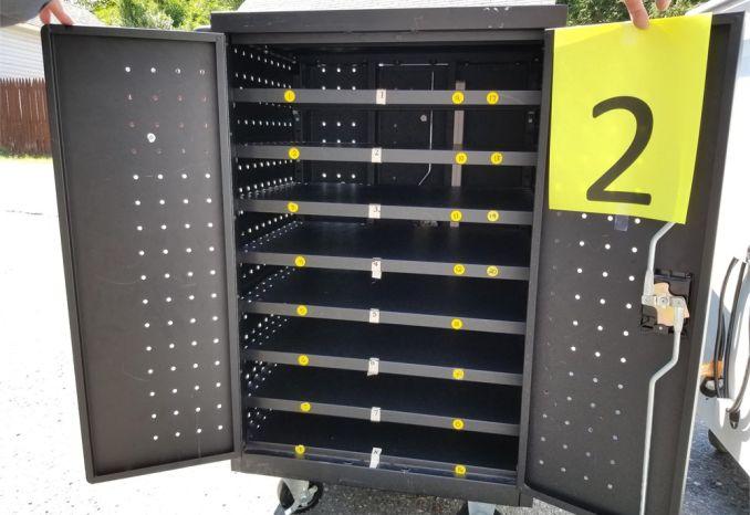 8 Black Charging Carts