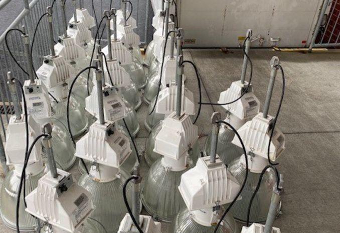 Holophane (metal halide) high bay gym lights