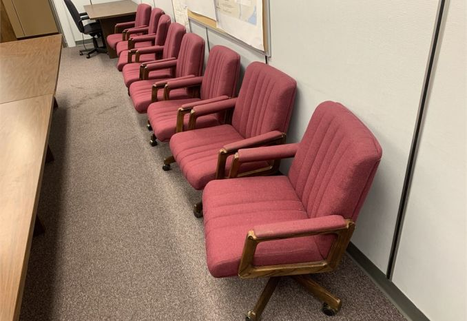 16 Red Rolling Office Chairs