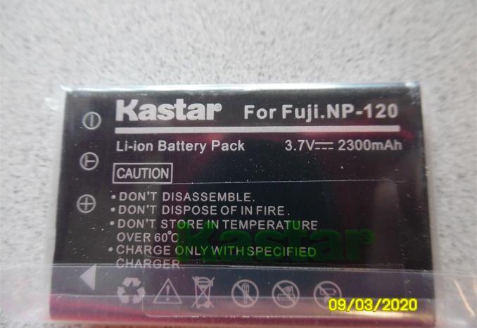 KASTAR FNP-120 Camera/Camcorder Battery for Fuji NP-120 (1 of 2)