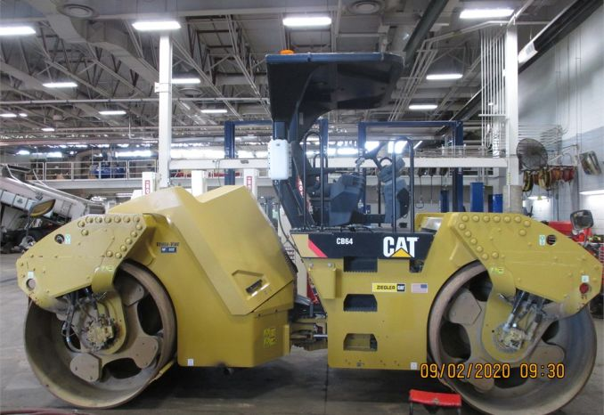 2015 CAT CB64 Double Steel Drum Roller