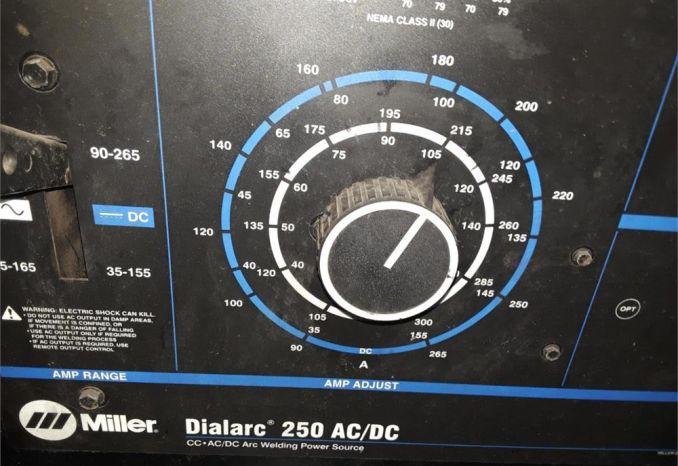 Miller Dialarc 250 AC/DC Arc welding unit.