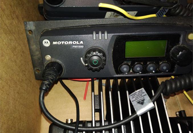 Box Lot of Motorola Mobile Radios