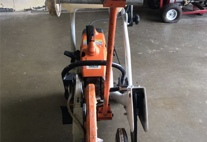 "STIHL 14"" CUT SAW ON CART"