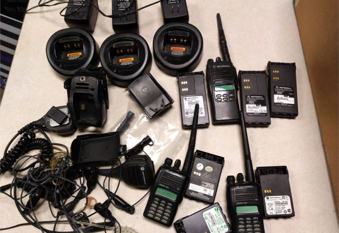 Box Lot of Motorola Portable Radios