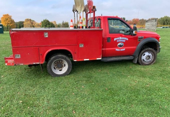 2009 FORD F450 4X4 W/FISHER PLOW