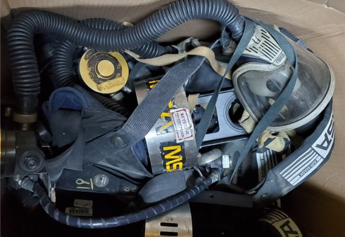 Old Scott and MSA SCBA Harnesses and Cylinders