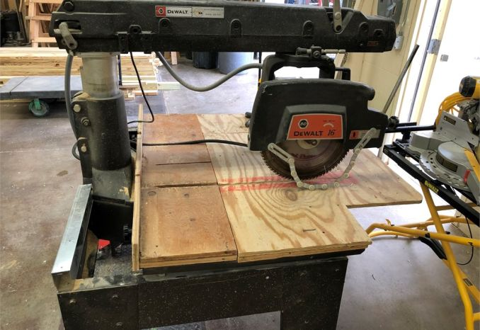 "Dewalt 16"" Radial Arm Saw"