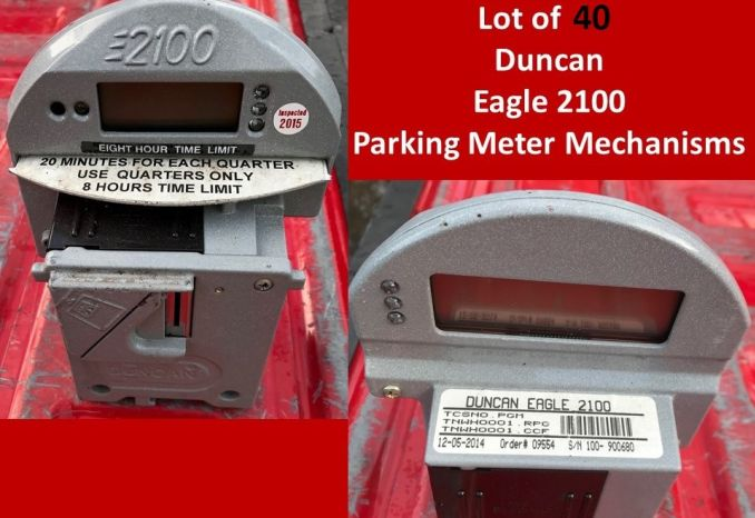 40 DUNCAN EAGLE 2100 Parking Meter MECHANISMS (LOT)