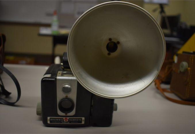 Kodak Brownie with flash holder
