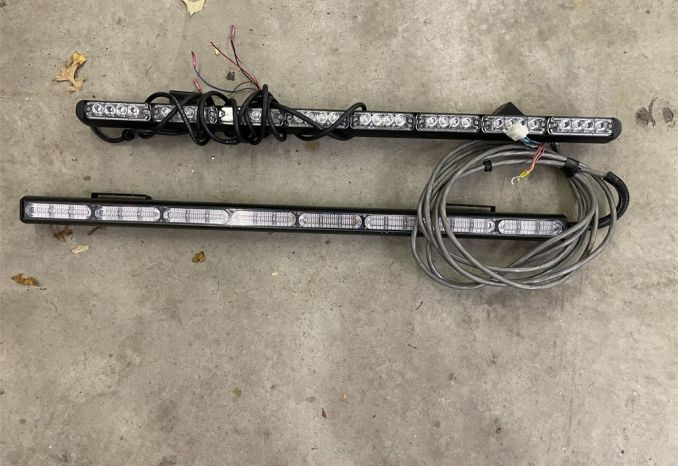"2 Tomar 37"" rear interior 8 module light bars"