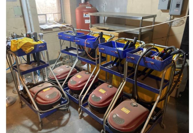 Lot of 5 MONDOVAP® 2400 INSTITUTIONAL SYSTEM STEAM CLEANER