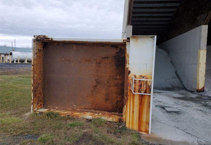 Truck steel dump bed