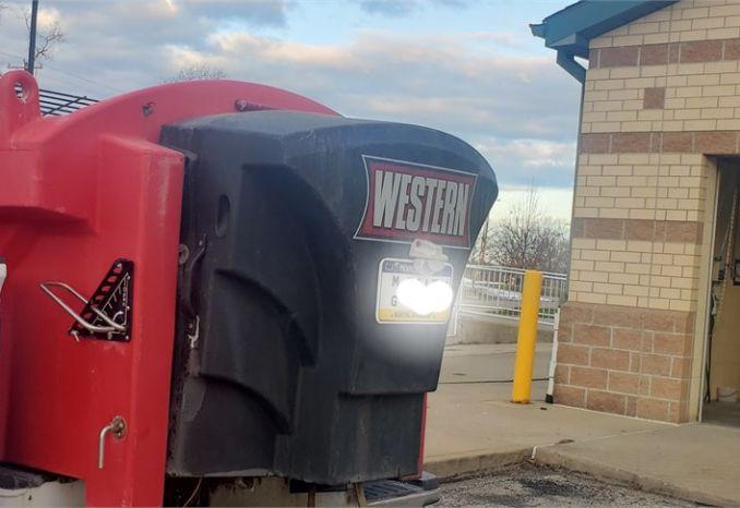 Tornado/western 2 ton salt spreader  used