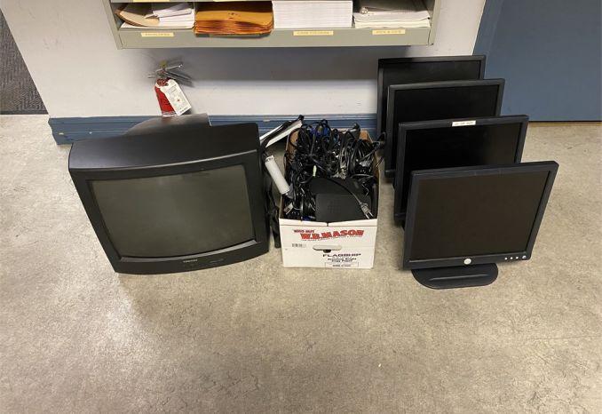 computer monitors, keyboards, tv