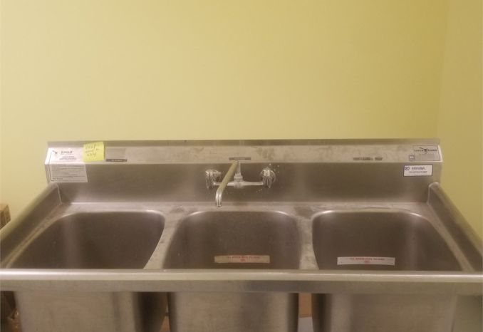 3 Bay Stainless Steel NSF  Eagle Sink
