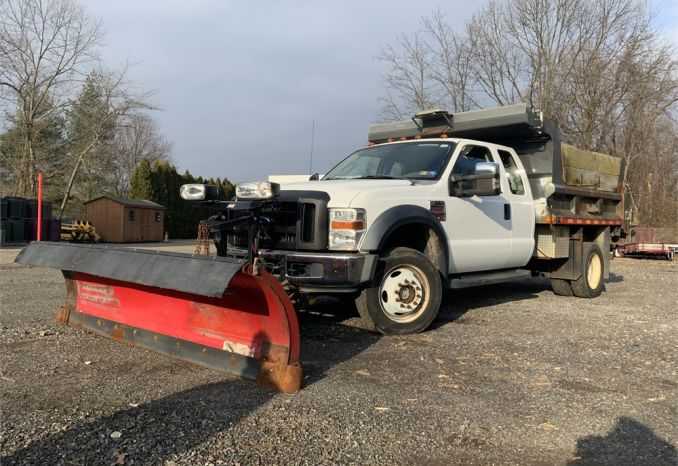 2008 Ford 550 Dump with plow and spreader