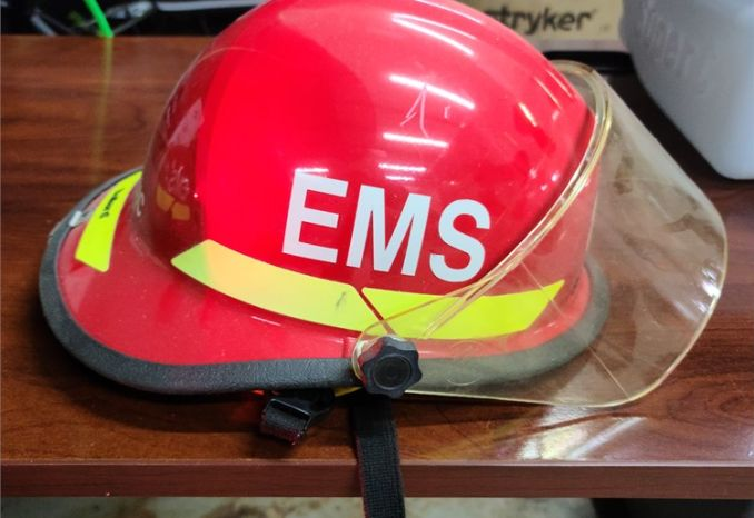 Bullard Firefighting rescue helmet.