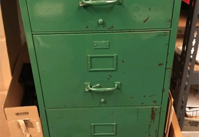 remington Rand Fire Proof Filing Cabinet