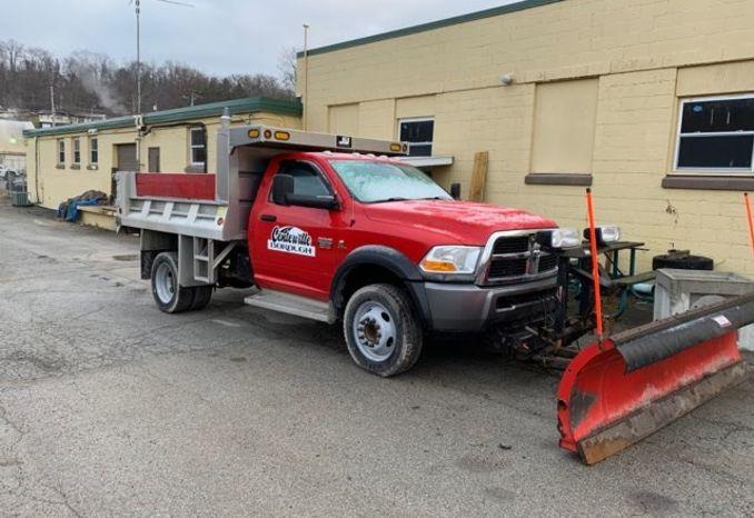 2011 Dodge 5500 Dump Truck with 9' Western Snowplow
