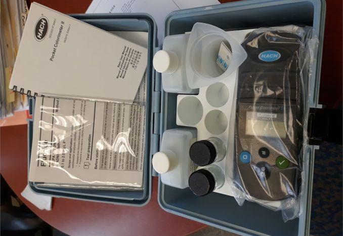 Hach Pocket Colorimer II Fluoride test kit