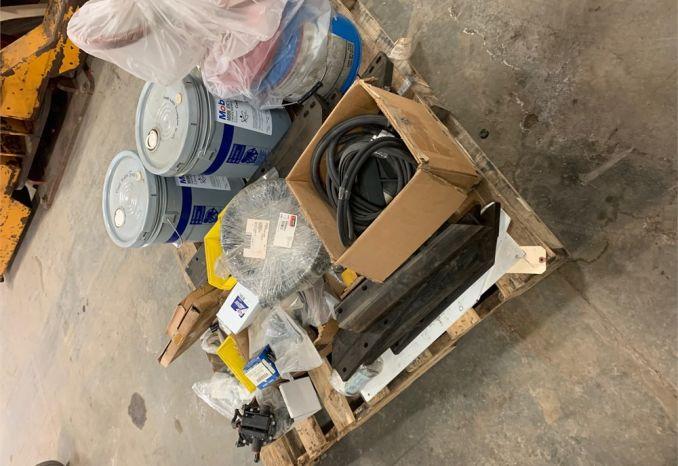 Pallet of parts for Elgin Pellican street sweeper