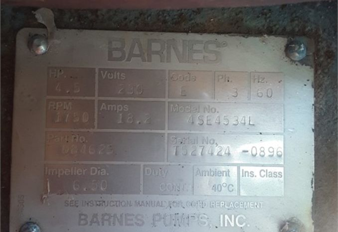 Barnes 4.5 HP Submersible Pump