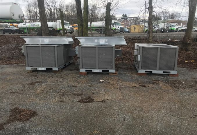Three Rheem Roof Top Heating and AC units
