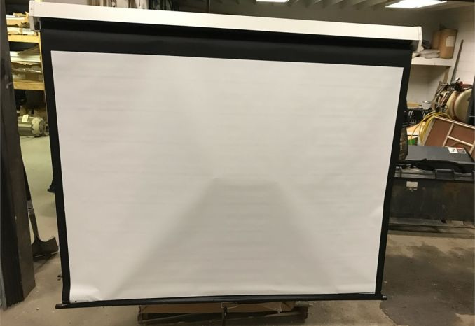 "roll up projector screens  48""x64"" wide qty:5"