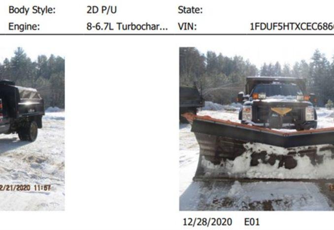 2012 Ford F550 4x4 snow plow and SS sander, 6.7L, Turbo Diesel