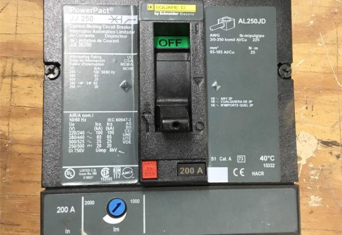 Square D JJ250 200 Amp Breaker