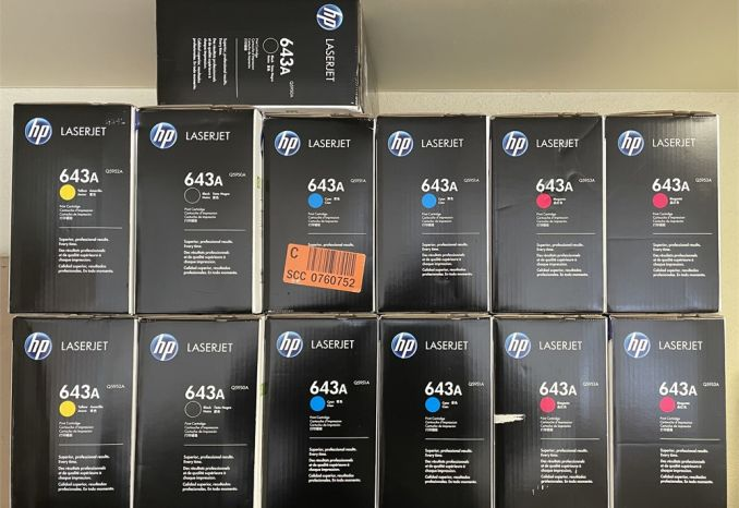 13x HP 643A Sealed Toner Cartridges