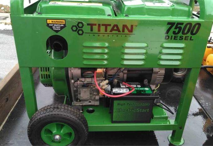 Titan portable Generator 7500 Diesel