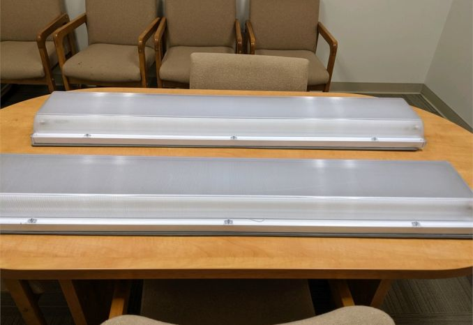 Set of Two Lithonia Lighting Ceiling Mount Fluorescent Lights