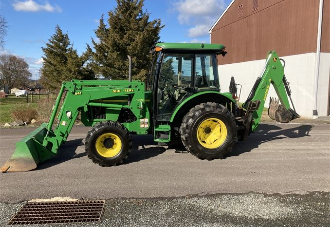 2002 John Deere 5420 Diesel 4x4 Tractor with Loader and Backhoe