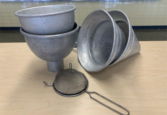 Lot of Strainers and Funnels