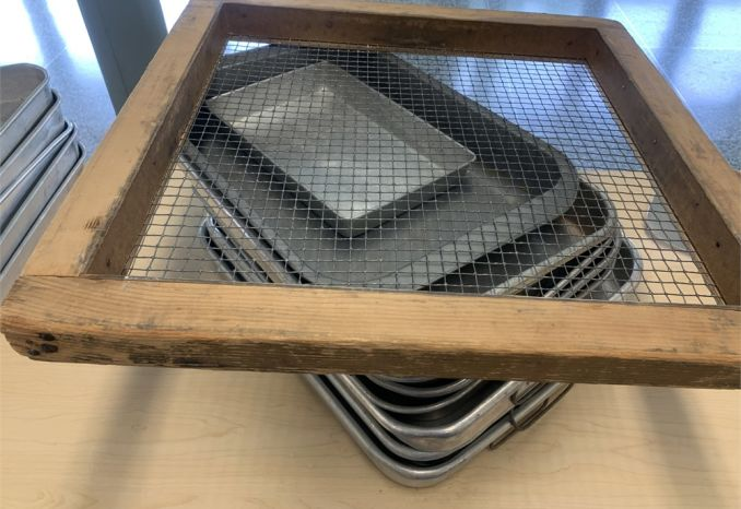 Lot of Pans and Sifter