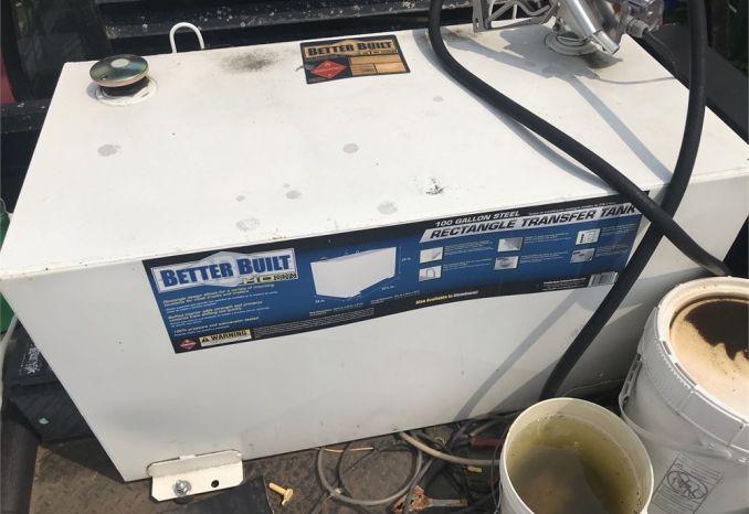 100 gallon steel transfer tank