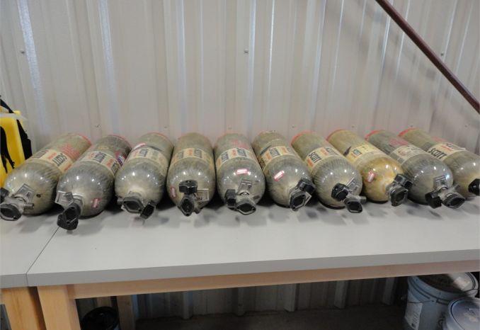 10 Scba bottles