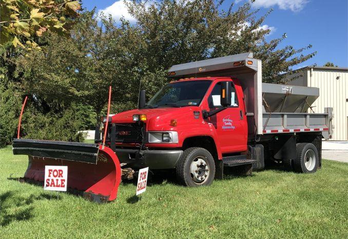 2008 GMC 5500 2x4 Dump Truck w/Plow & Spreader