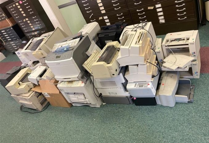 Printers/Scanners/Fax (~30 units, mostly parts-only)