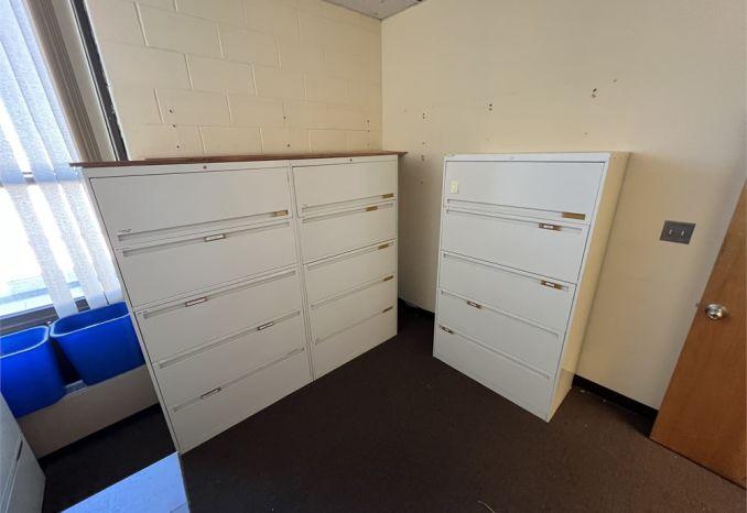 QTY x7 - 5-Cabinet Filing Cabinets