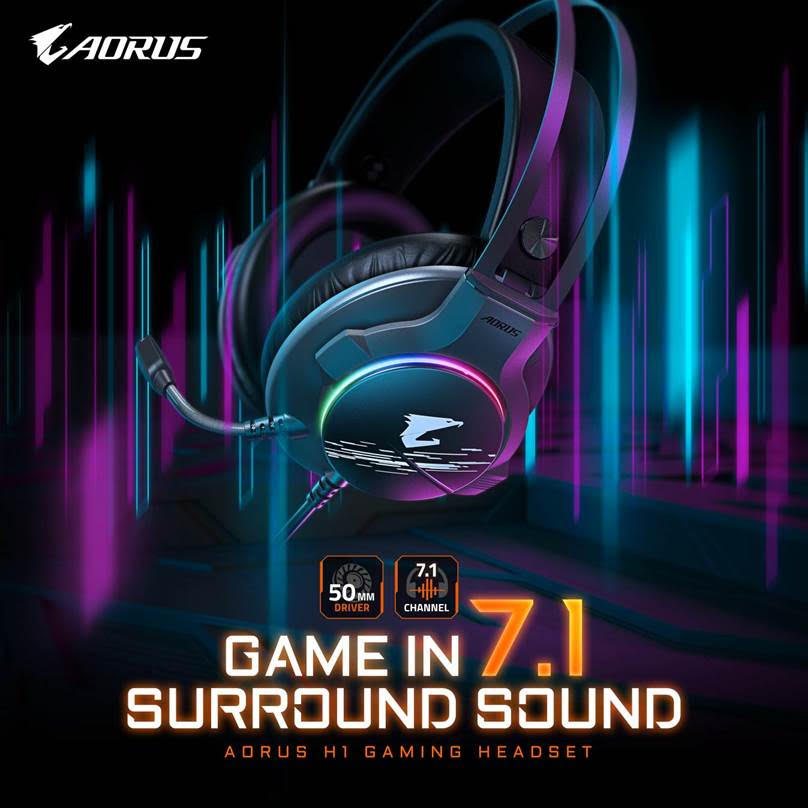 Headset Gaming Terbaru AORUS H1