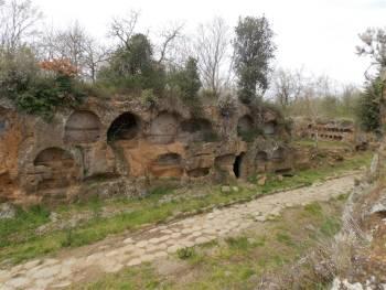 via amerina e necrepoli di tre ponti