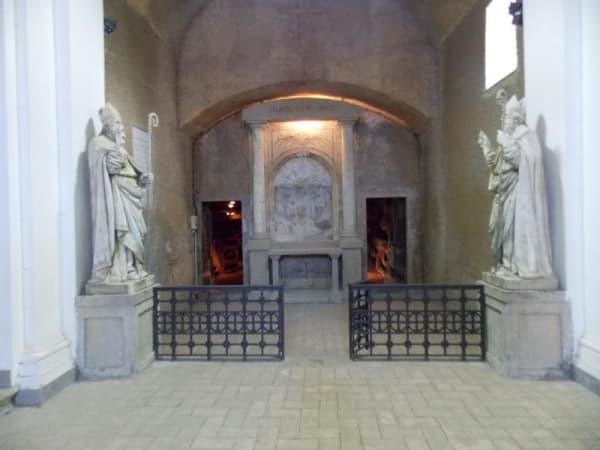 ingresso della catacomba