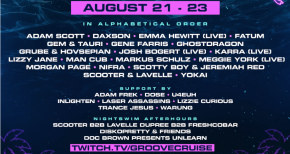 Image of The world's largest floating electronic music festival Groove Cruise returns for an end of summer massive live stream event with over 30+ artists and performers.