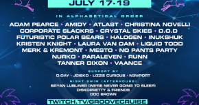 Image of Groove Cruise welcomes 30+ DJ's and artists for next Virtual Sail Aways livestream (17-19th July)