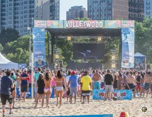 Image of A-Trak N' Friends Celebrate Volleywood During Corona Electric Beach 2016 @ North Avenue Beach - Chicago, IL