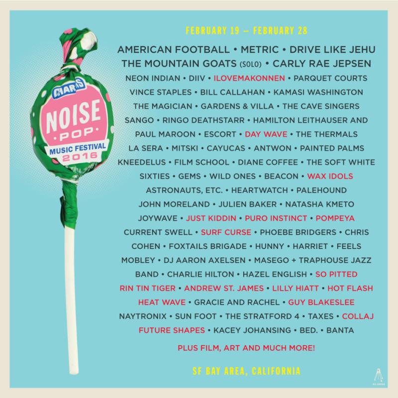 Noise Pop Music Festival 2016