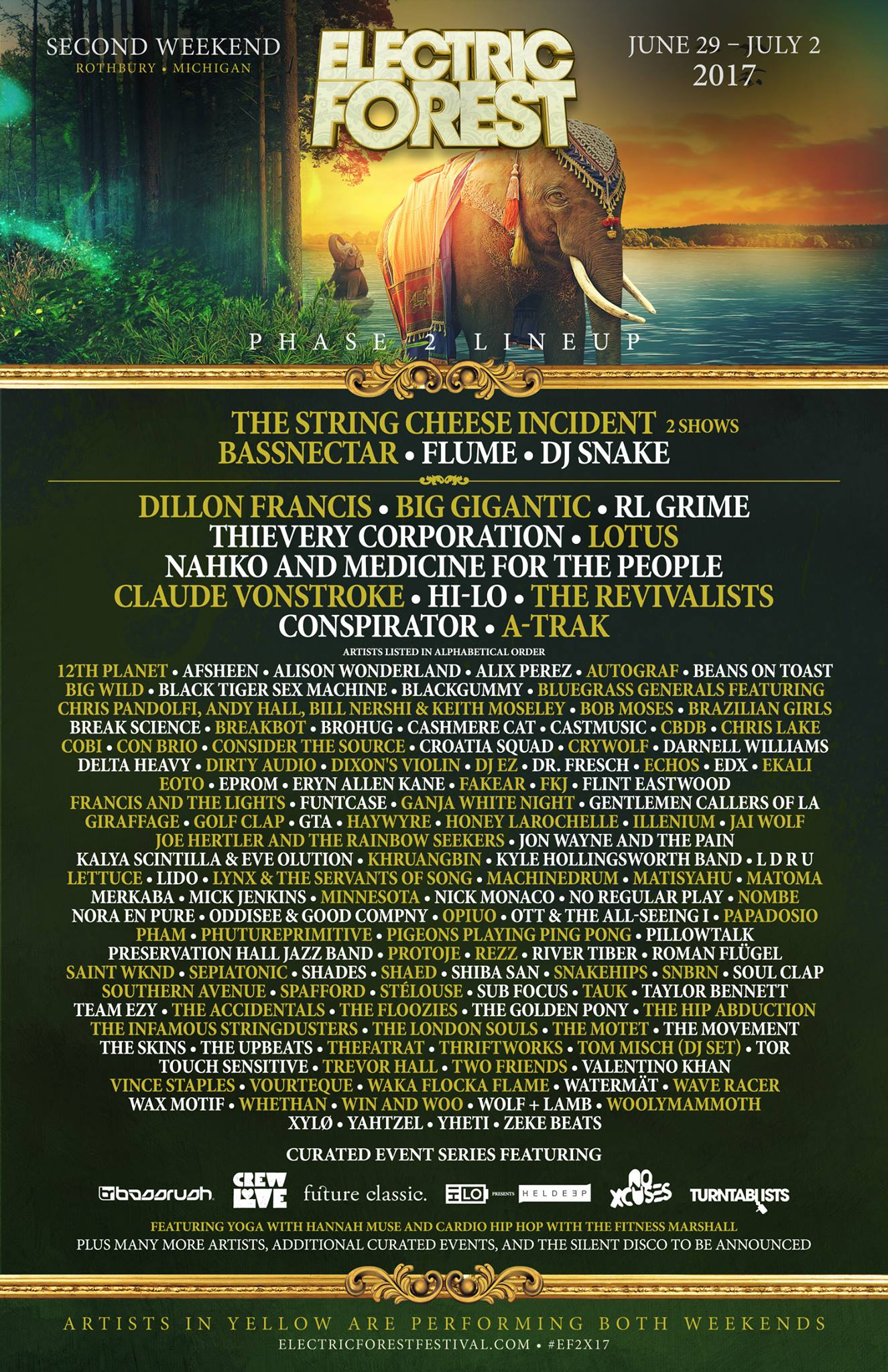 Electric Forest 2017 Lineup Weekend 2